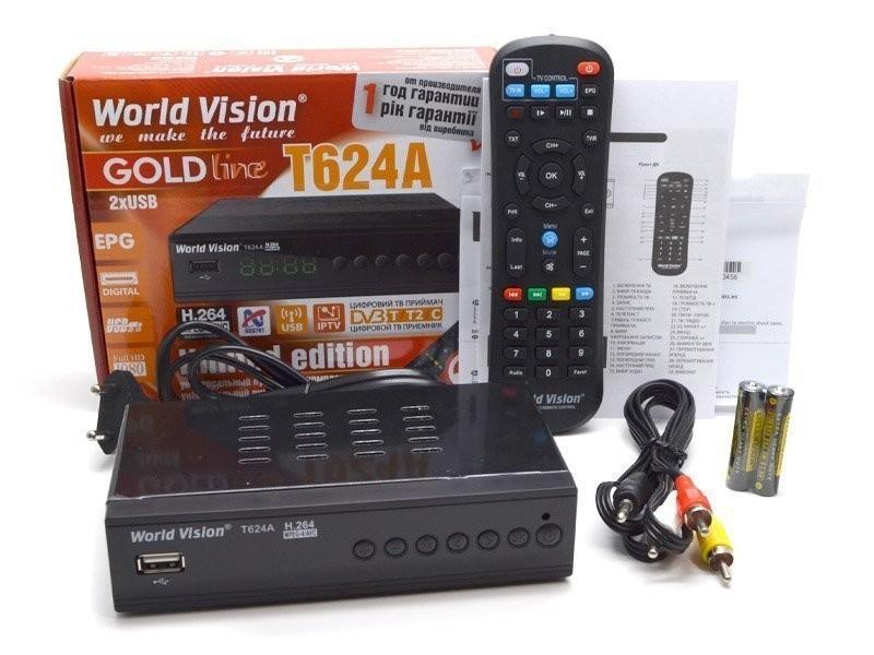 Цифровий приймач (ресівер)  DVB T2 World Vision T624А