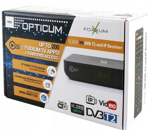 Цифровий приймач (ресівер)  DVB-T2 Opticum