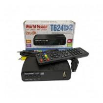 Цифровий приймач (ресівер)  DVB-T2 World Vision T624